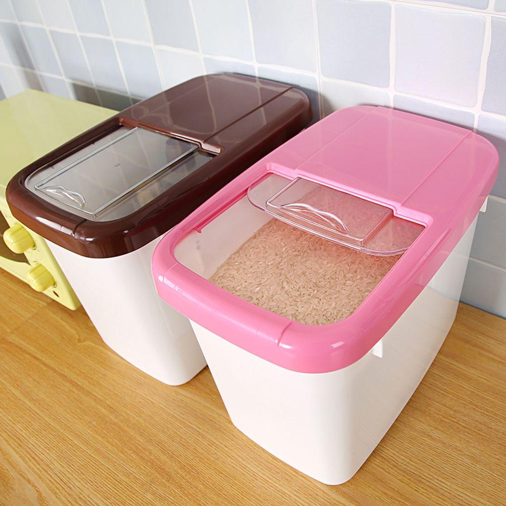 [더산직구]간편 플라스틱 쌀 곡물 다용도 정리 수납함/ 영업일기준 5~15일 소요