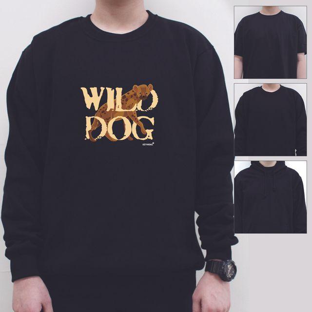 W 키밍 wild dog 여성 남성 티셔츠 후드 맨투맨 반팔
