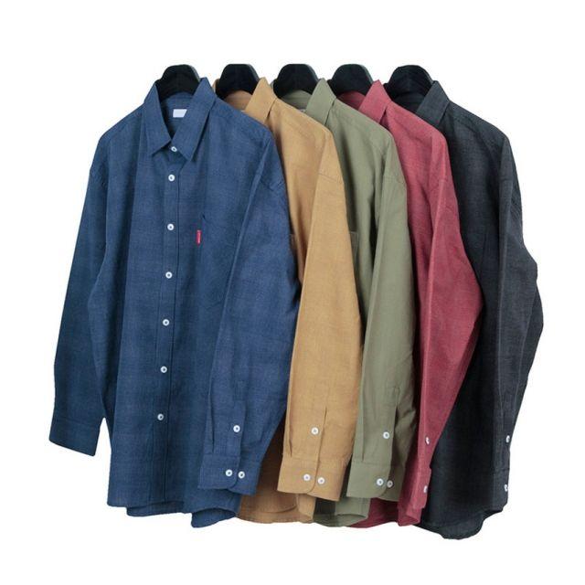 킹스맨 남자셔츠 잔무늬 체크 오버핏 셔츠 Z0416012