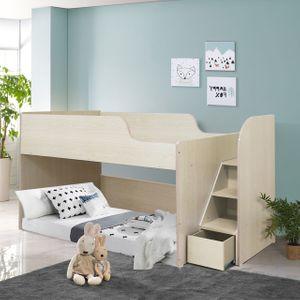 초등학생 어린이 벙커 침대 2층 침대 책상 세트