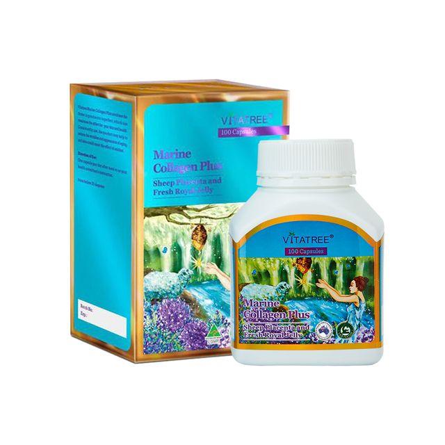 [해외] 호주 비타트리 마린 콜라겐 양태반 로얄젤리 100캡슐