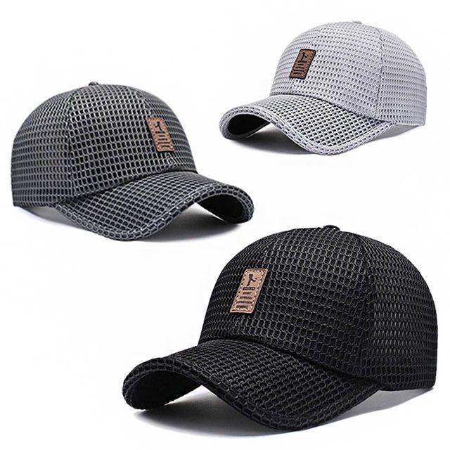 W 여름 메쉬캡 햇볕 차단 쾌적한 통풍 데일리 야구 모자