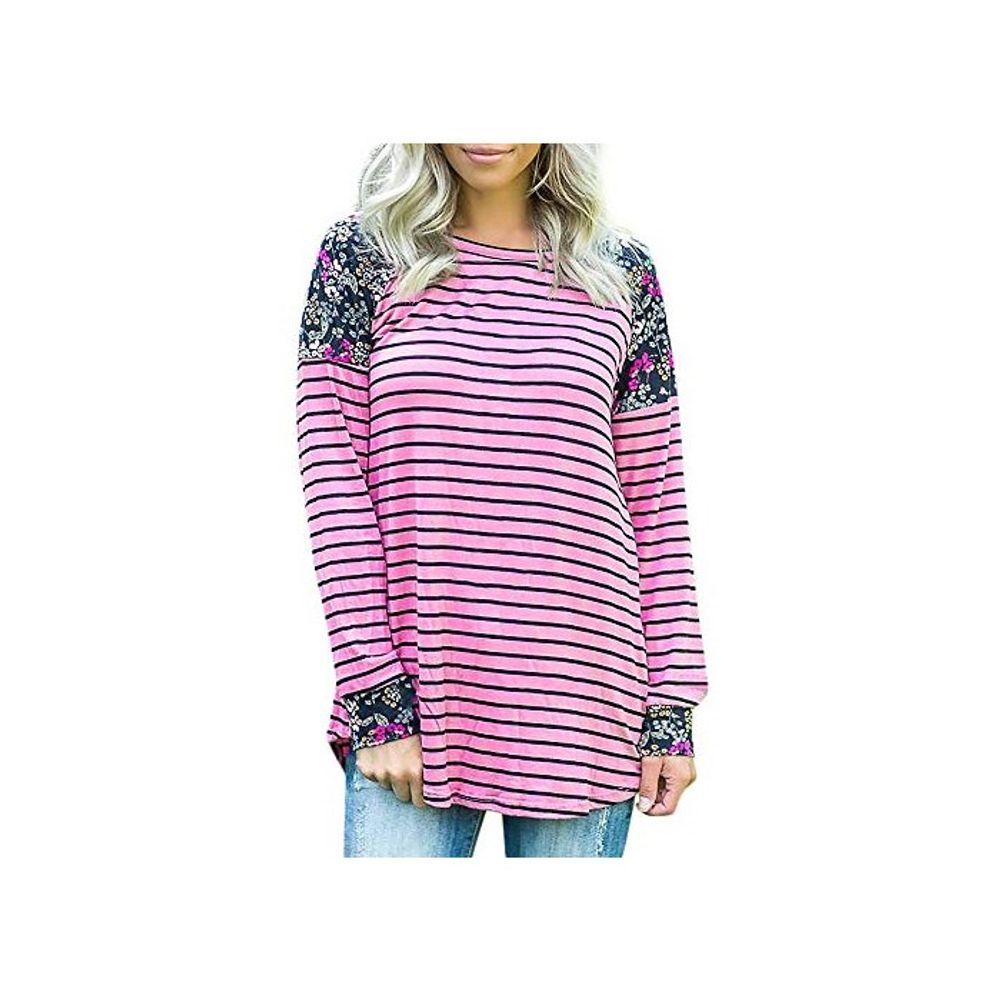 [더산직구]SRYSHKR Plus Size Womens Long Sleeve Stripe/ 영업일기준 5~15일