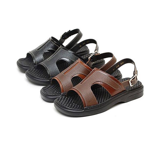 韩国直邮 118男性正装凉鞋天然皮革凉鞋高级型地压凉鞋健康凉鞋