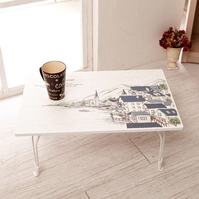 다용도 교자상 티 테이블 2인 4인 간이 사각 접이식