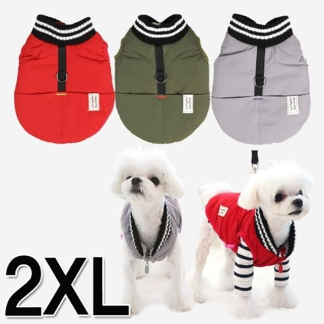 패리스독 머스크 패딩 2XL 강아지옷 겨울옷