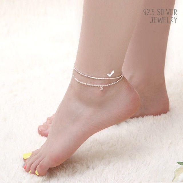 【韩国直邮】92.5 Silver银色链式脚链JM 151