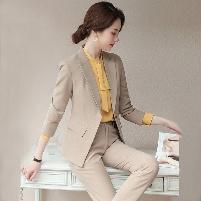 [해외] 여성 패션 재킷 자켓 정장세트장 여신 팬 드레스