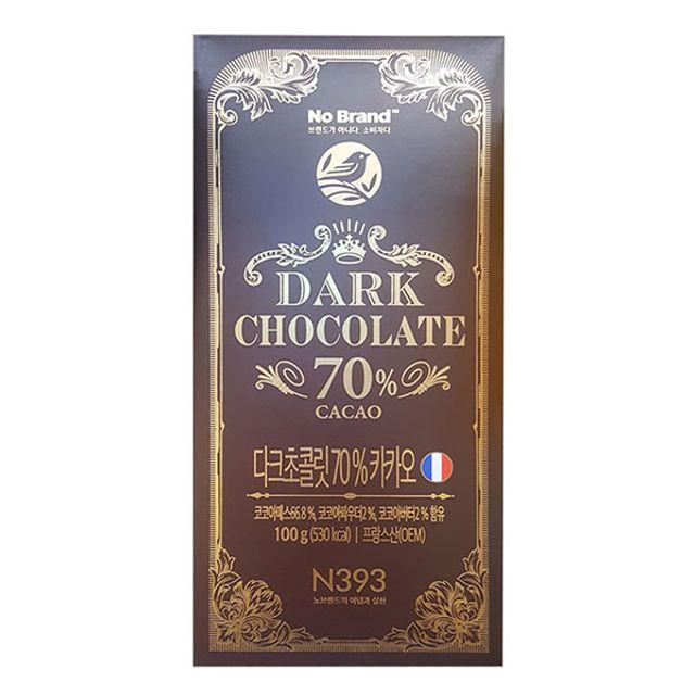 노브랜드 다크초콜릿 70%카카오 100g