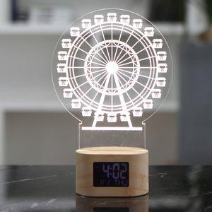 인테리어 무드등 날짜 요일 예쁜 탁상 용 시계 관람차