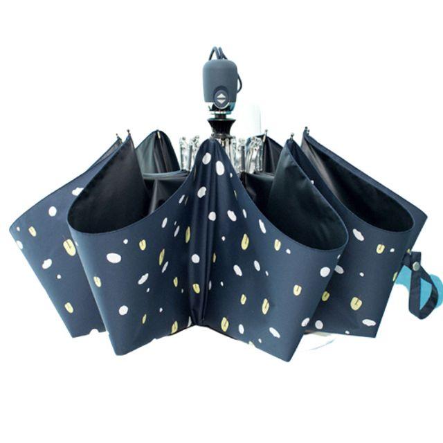 자외선차단 휴대용 접이식 3단 자동 양우산 네이비