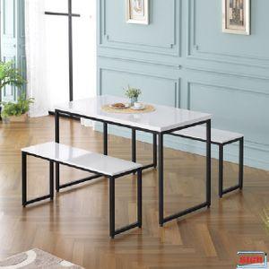 LPM상판 1200 사각철다리 테이블 4인식탁 G-358