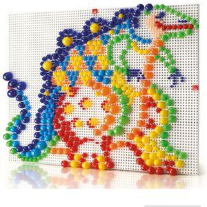 미술 놀이 컬러 단추 블록 모듈라 4보드믹스 600p