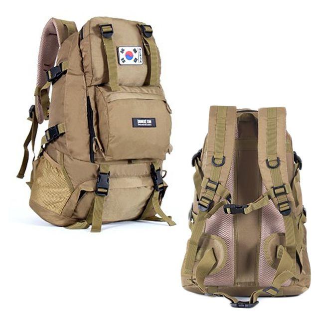 대용량 밀리터리 군인 가방 여행용 백팩 배낭 베이지