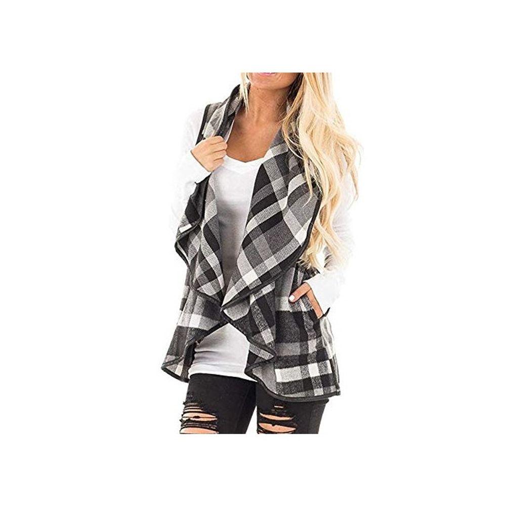 [더산직구]Dressin Womens Sleeveless Open Front Hem Plaid/ 영업일기준 5~15일