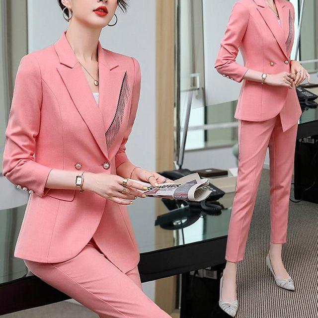 [해외] 여성 패션 재킷 자켓 정장세트세련된 서양식 정장