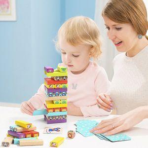어린이 원목 나무 장난감 완구 애니멀 나무 쌓기 블록