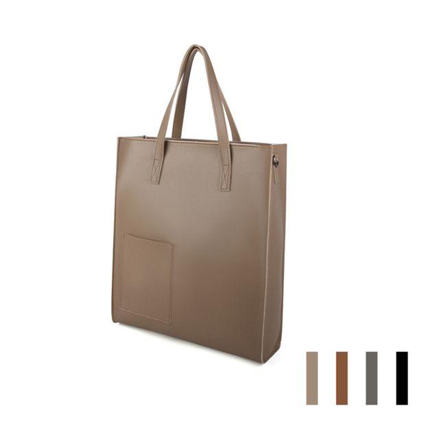 W 스퀘어 넉넉한 베이직한 디자인 학생 오피스 가방
