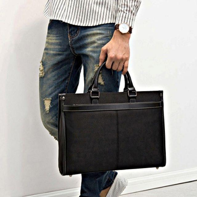 W 클래식 디자인 생활방수 원단 생활방수 노트북 가방