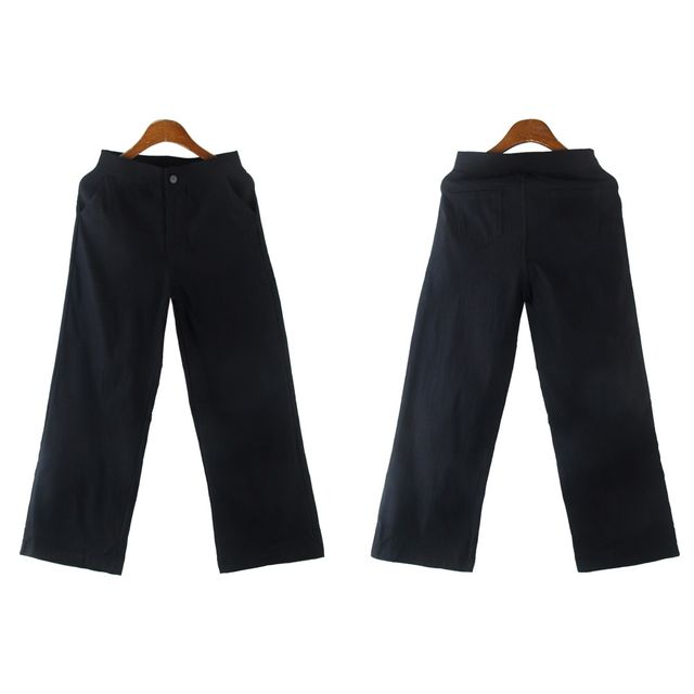W 캐주얼 일자팬츠 패션 슬랙스 올스판 사계절 출근룩