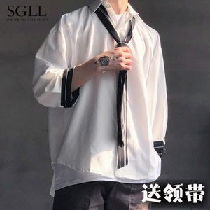 02b8d7ccb93 셔츠 남성 반팔 느슨한 여름 패션 청소년 와이셔츠