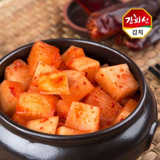 강화특산물 강화섬 깍두기 5kg,김치,깍두기,무김치,김장,깍두기