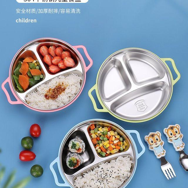[해외] 주방용품 식판 격자 판 유치원 식기 중국어
