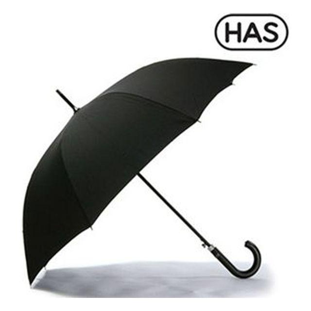 헤즈 솔리드 블랙 가죽핸들 자동 장우산 HS1AL 250개 인쇄무료