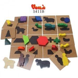 브알라 그림자찾기놀이(S411B) 학습 완구 원목 장난감