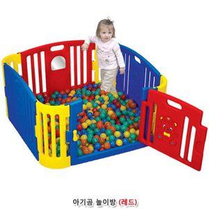 공간놀이완구 아기곰 사각라운드 놀이방-레드