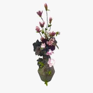 꽃빛아트 LED플라워 양철 화기 목련