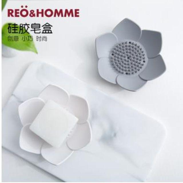 실리콘 비누 귀여운 꽃잎 화장실 욕실 비누 케이스1+1