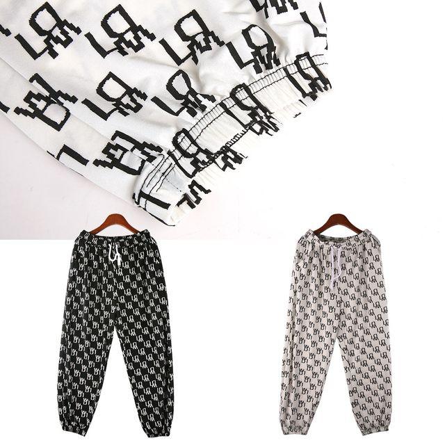 W 여성 문양 패턴 허리밴딩 조거 팬츠 210506