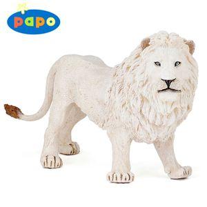 (동물 모형완구) 흰 숫사자 (50074)