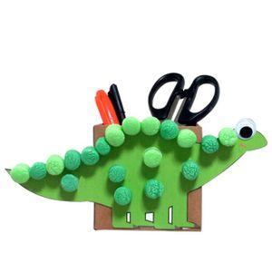 만들기아트콘 상자공룡 연필통 만들기 5P