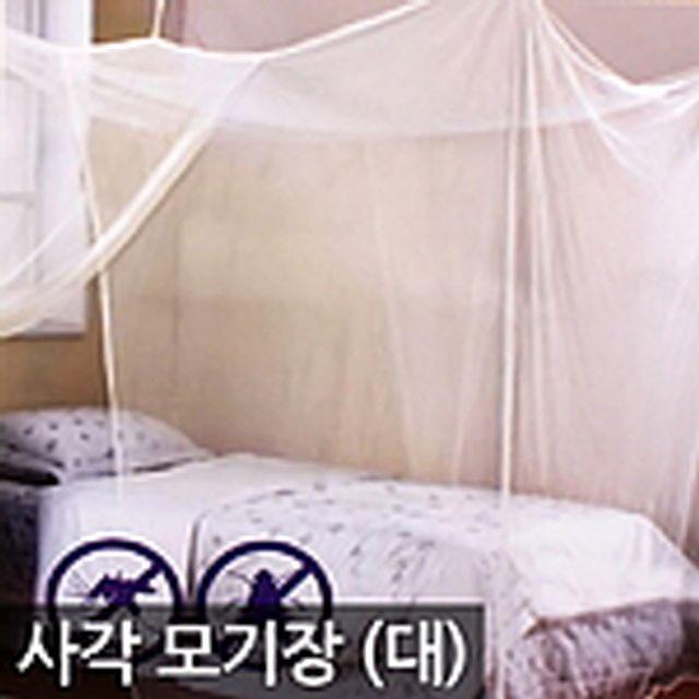 사각모기장 방충망 캐노피 침대모기장 해충방지