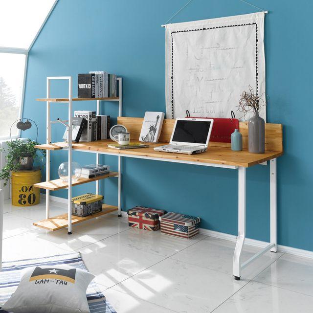 원목 학생 공부방 책상 책장 테이블 세트 1200