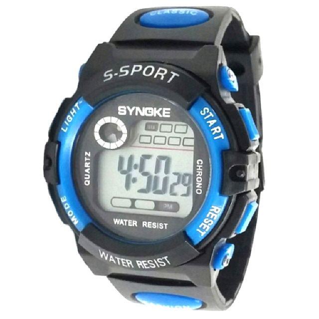 KW7103(파랑) 방수 전자 아동 손목 어린이 시계