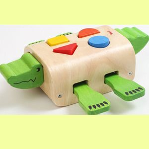 유아 소근육 공간 색감 발달 악어 도형 맞추기 놀이