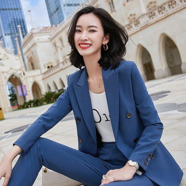 [해외] 여성 패션 재킷 자켓 정장세트스타일 작업복 가을
