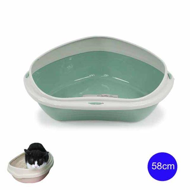 셔틀 코너 평판형 고양이 화장실 58cm(Big 그린)