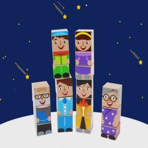 어린이 아동 유아 빌딩 움직이는 원목 블록 장난감