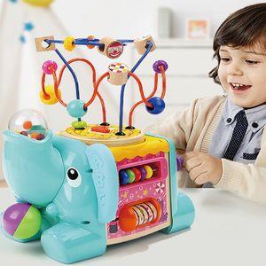 어린이 유아 놀이 장난감 완구 코끼리 액티비티 큐브
