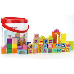 유아 원목블록 두뇌개발 블럭놀이 숫자놀이 장난감