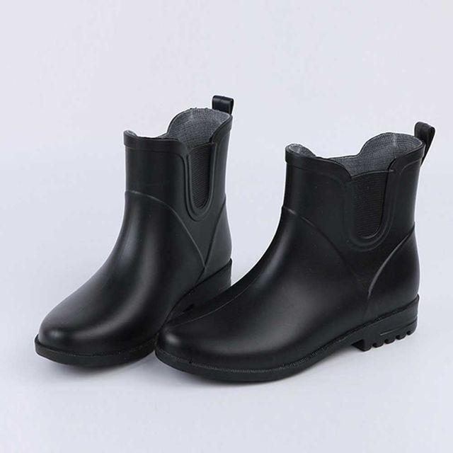 비올때 신발 발목 장화 우화 여자 캐주얼 레인 부츠