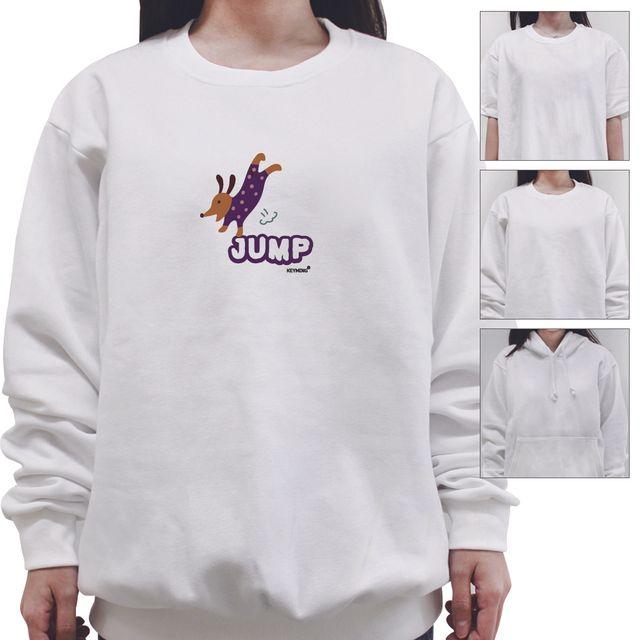 W 키밍 jump 여성 남성 티셔츠 후드 맨투맨 반팔티 공용