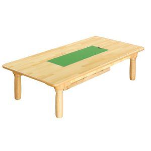 블럭 책상 원목다리 놀이교구책상