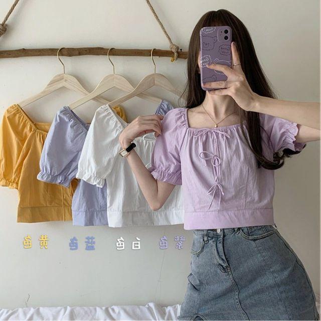 [해외] 여성 티셔츠 캐주얼 은 서양식 블라우스