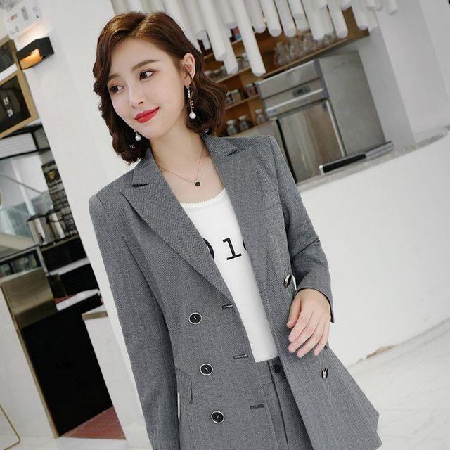 [해외] 여성 패션 재킷 자켓 정장세트 한국어 바지 가을