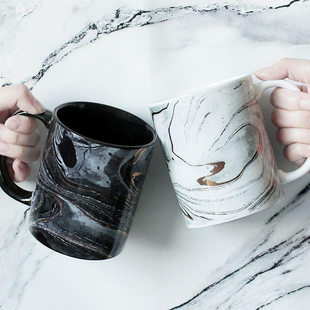 [해외] 유럽 대리석 질감 머그잔 세라믹 컵 홈 오피스